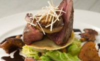 Fillet of Venison with Field Mushrooms and a Rich Chocolate Sauce