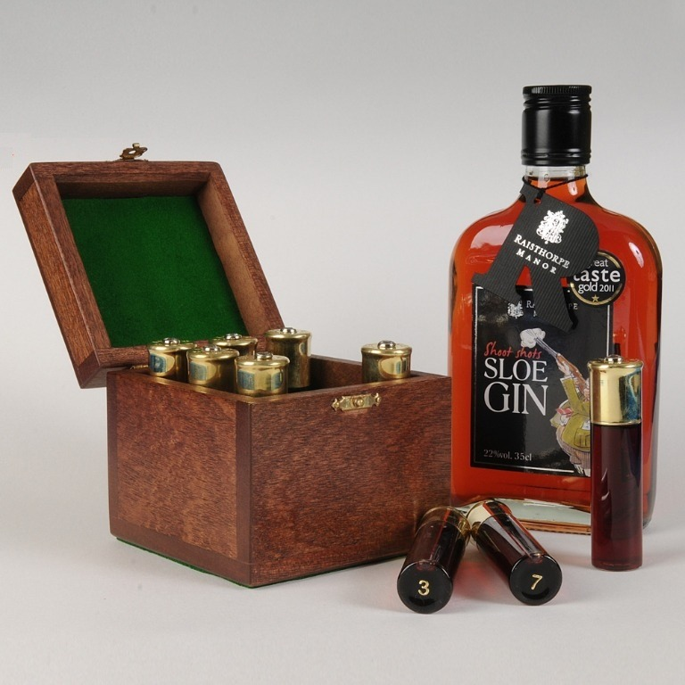 A choice of Hampers & Sloe Gin products including the Peg Puller Collection.
